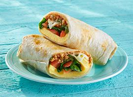 Spinach & Feta Omelet Wrap