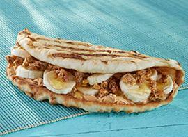 Peanut Butter Banana Crunch Flatbread