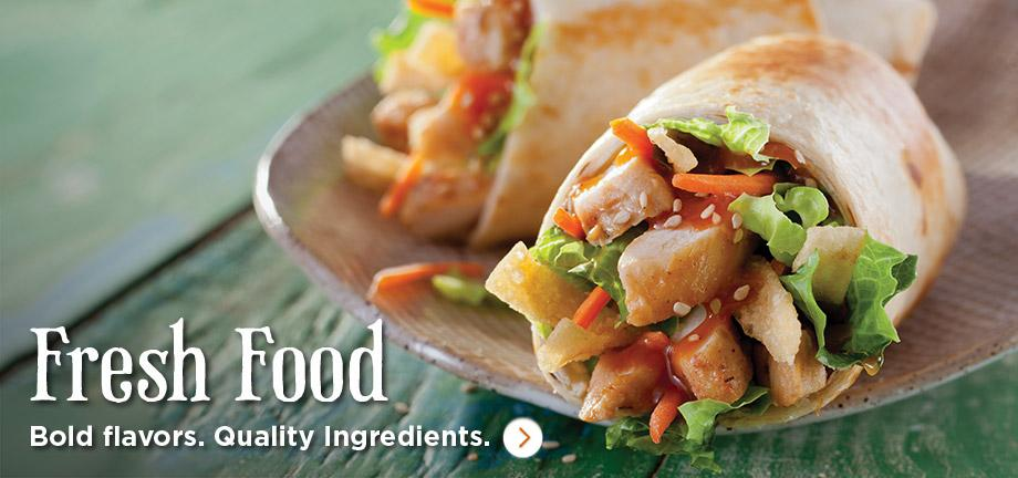 Bold flavors. Quality Ingredients.