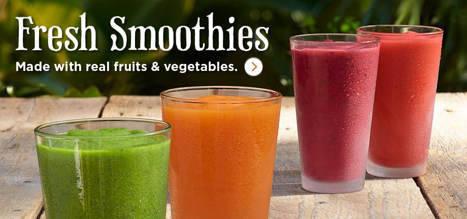 Made with real fruits & vegetables.